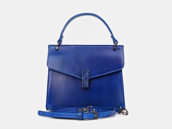 Солидный голубовато-синий женский клатч ATS-3417