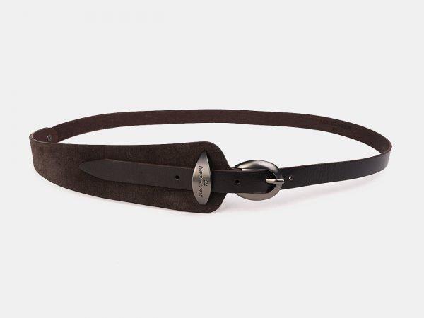 Стильный коричневый женский модельный ремень ATS-3509