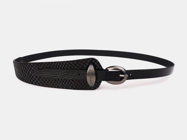 Неповторимый черный женский модельный ремень ATS-3506