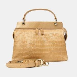 Удобная бежевая женская сумка ATS-3435