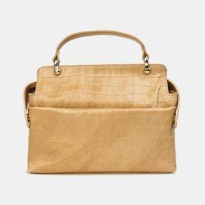 Удобная бежевая женская сумка ATS-3435 212472