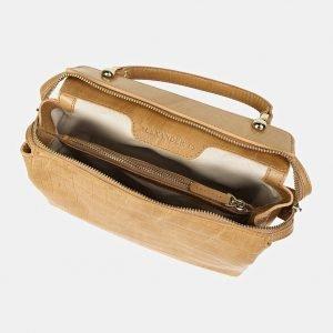 Удобная бежевая женская сумка ATS-3435 212473
