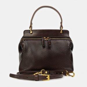 Деловой коричневый женский клатч ATS-3436