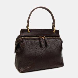 Деловой коричневый женский клатч ATS-3436 212466