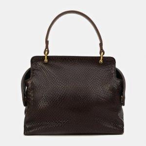 Деловой коричневый женский клатч ATS-3436 212467