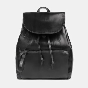 Модный черный рюкзак кожаный ATS-3464