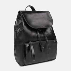 Стильный черный рюкзак кожаный ATS-3464 212395