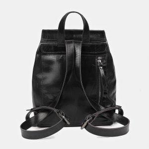 Стильный черный рюкзак кожаный ATS-3464 212396