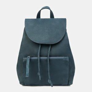 Кожаный синий рюкзак кожаный ATS-3449
