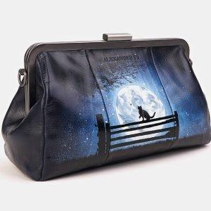 Модный синий клатч с росписью ATS-3620 211797