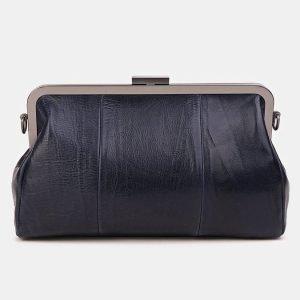 Модный синий клатч с росписью ATS-3620 211798