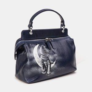 Удобная синяя сумка с росписью ATS-3610 211846