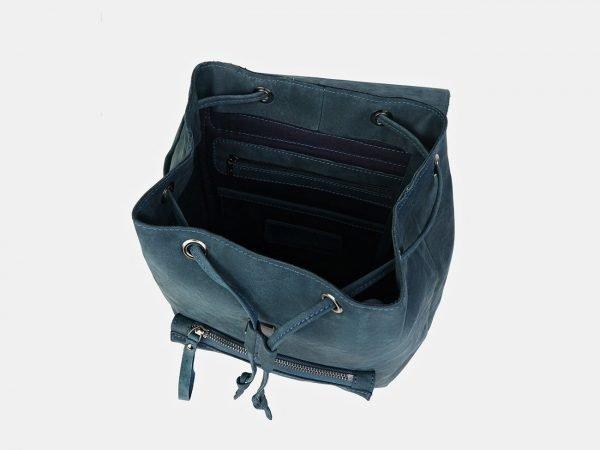 Неповторимый синий рюкзак кожаный ATS-3449