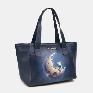 Неповторимая синяя сумка с росписью ATS-3611 211841