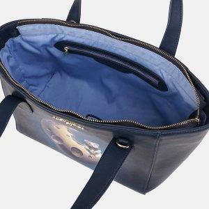 Неповторимая синяя сумка с росписью ATS-3611 211843