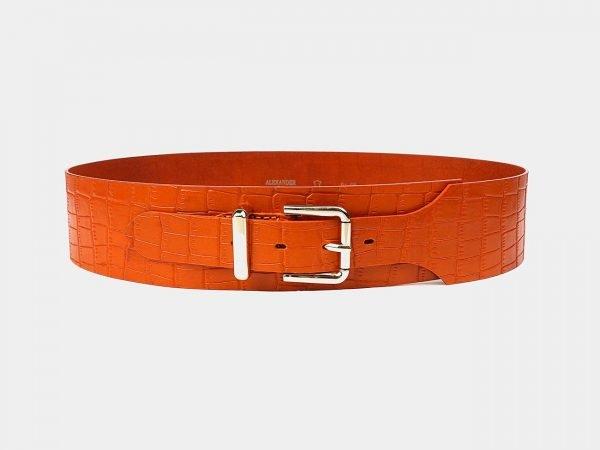 Модный оранжевый женский модельный ремень ATS-3478
