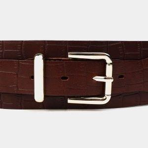 Кожаный светло-коричневый женский модельный ремень ATS-3477 212361