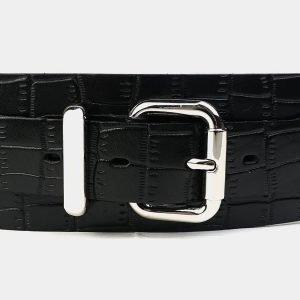 Солидный черный женский модельный ремень ATS-3474 212370