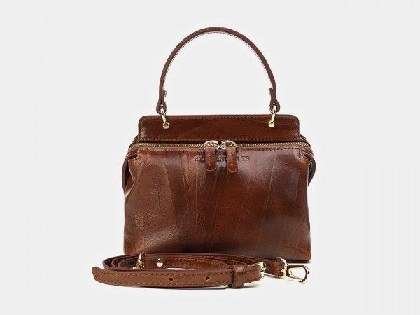 Кожаный светло-коричневый женский клатч ATS-3469