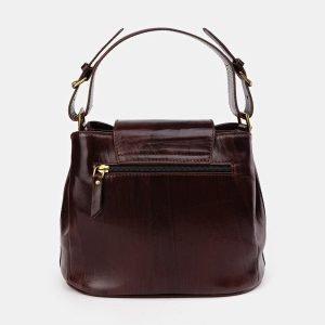 Солидная коричневая сумка с росписью ATS-3614 211827