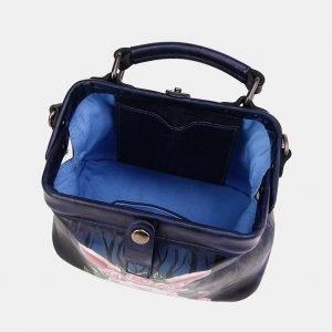 Функциональная синяя сумка с росписью ATS-3615 211823