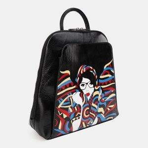 Деловой черный рюкзак с росписью ATS-3621 211792