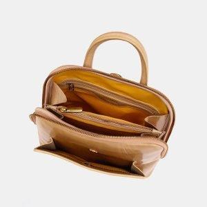 Вместительный бежевый рюкзак с росписью ATS-3666 211684