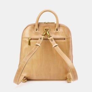 Вместительный бежевый рюкзак с росписью ATS-3666 211685