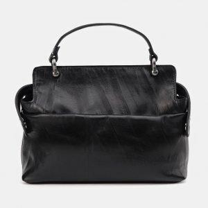 Стильная черная сумка с росписью ATS-3672 211654