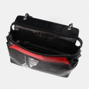 Стильная черная сумка с росписью ATS-3672 211655