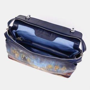 Солидная синяя сумка с росписью ATS-3673 211650