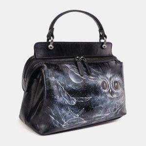 Неповторимая черная сумка с росписью ATS-3674 211643