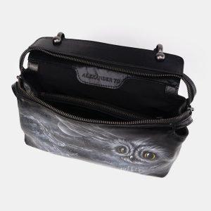 Неповторимая черная сумка с росписью ATS-3674 211645