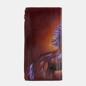 Деловой светло-коричневый портмоне с росписью ATS-2525 215017
