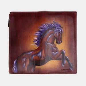Деловой светло-коричневый портмоне с росписью ATS-2525 215016