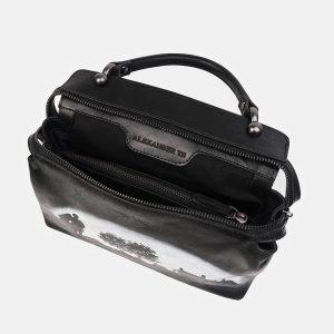 Уникальная черная сумка с росписью ATS-3519 212221