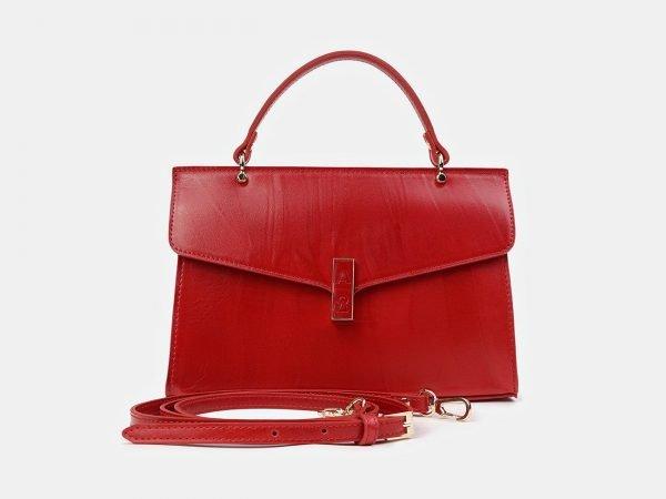 Вместительный красный женский клатч ATS-3512