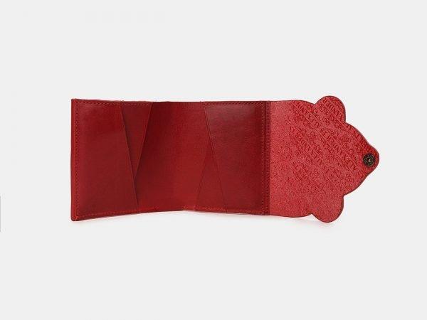 Кожаный красный кошелек ATS-3532