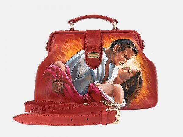 Деловая красная сумка с росписью ATS-3240