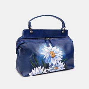 Модная голубовато-синяя сумка с росписью ATS-3539 212135