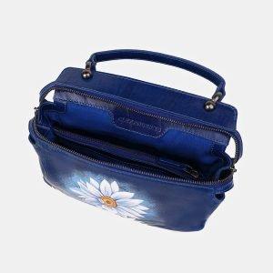 Модная голубовато-синяя сумка с росписью ATS-3539 212137