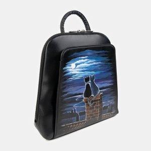 Удобный черный рюкзак с росписью ATS-3399 212602