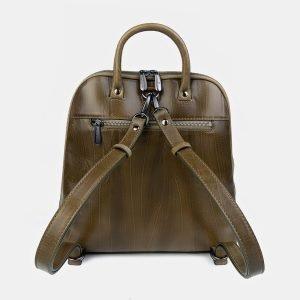 Деловой желтовато-зелёный рюкзак с росписью ATS-3400 212598