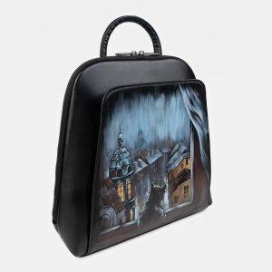 Неповторимый черный рюкзак с росписью ATS-3401 212592