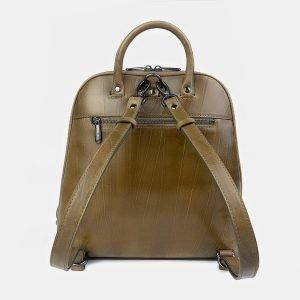 Функциональный желтовато-зелёный рюкзак с росписью ATS-3402 212588
