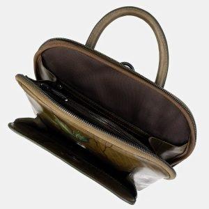 Солидный желтовато-зелёный рюкзак с росписью ATS-3403 212584