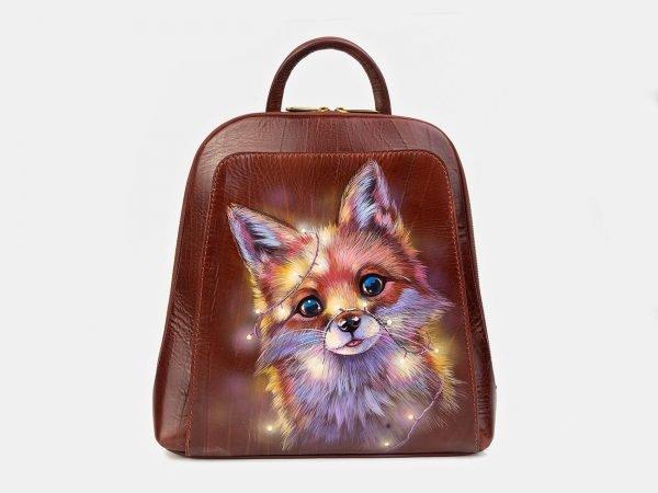 Деловой светло-коричневый рюкзак с росписью ATS-3405