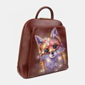 Деловой светло-коричневый рюкзак с росписью ATS-3405 212572