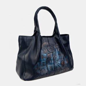 Деловая синяя сумка с росписью ATS-3407 212562