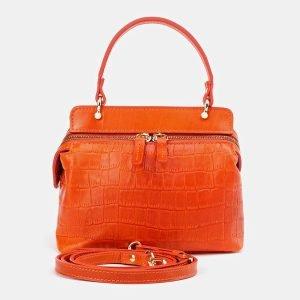 Удобный оранжевый женский клатч ATS-3653